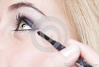 Het oog van het meisje