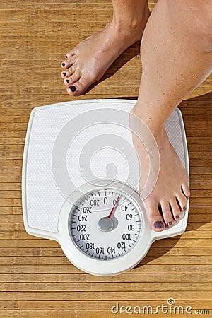 Het op dieet zijn van de vrouw