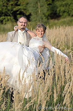 Het openluchtlandschap van het huwelijk