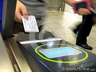 Het opnemen van het kaartje