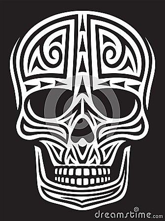 Het ornament van de schedel