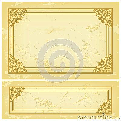 Het Oude Document van het frame