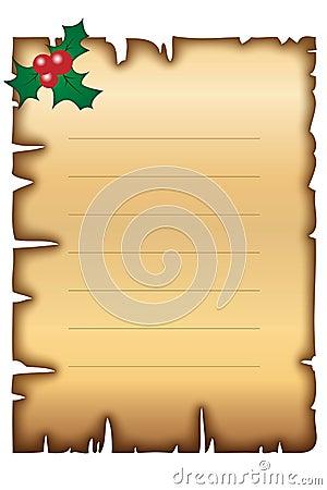 Het oude document van Kerstmis