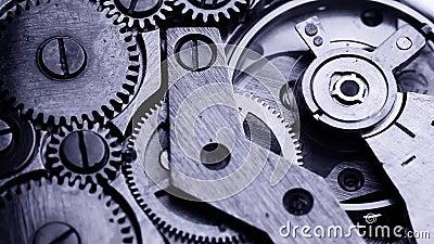 Het oude mechanisme van het kloktoestel