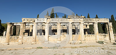 Het oude Roman Panorama van de Banner van de Kolom of Panoramisch