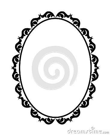 Het ovaal van het frame