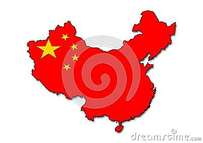 Het overzicht van China met vlag