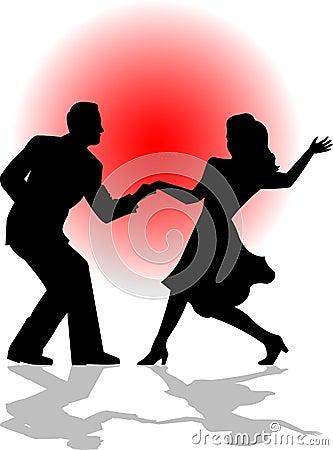 Het Paar van de Dans van de schommeling/eps
