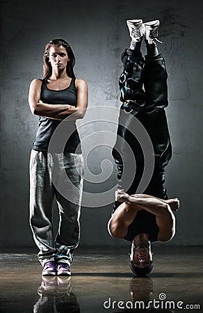 Het paar van de danser