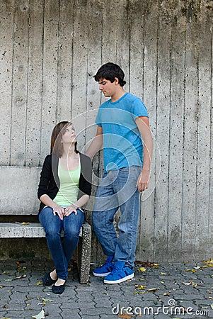 Het Paar van de tiener