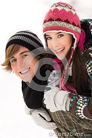 Het paar van de winter