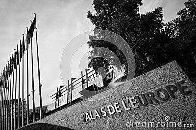 Het Paleis van Europa in Straatsburg