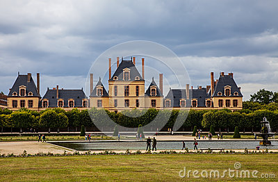Het paleis van Fontainebleau Redactionele Stock Foto