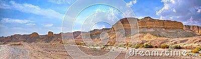 Het Panorama van de Woestijn van Yehuda, Israël