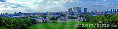 Het panorama van Greenwich