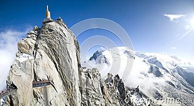 Het panorama van Mont Blanc