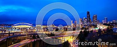 Het panorama van Seattle