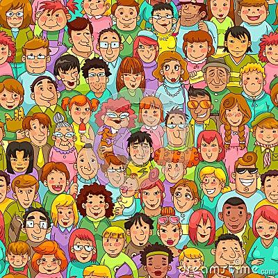 Het patroon van beeldverhaalmensen