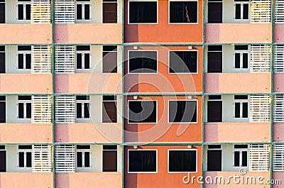 Het patroon van de bouw