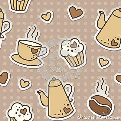 Het patroon van de koffie