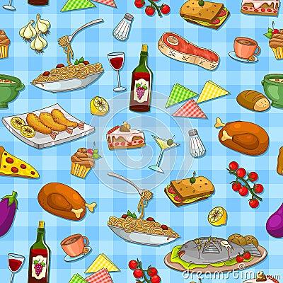 Het patroon van het voedsel