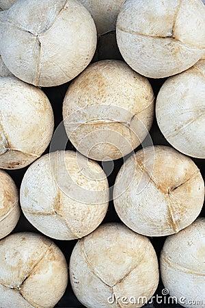 Het patroon van kokosnoten