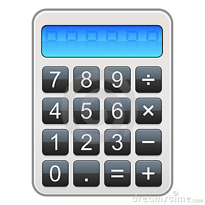 Het Pictogram van de calculator