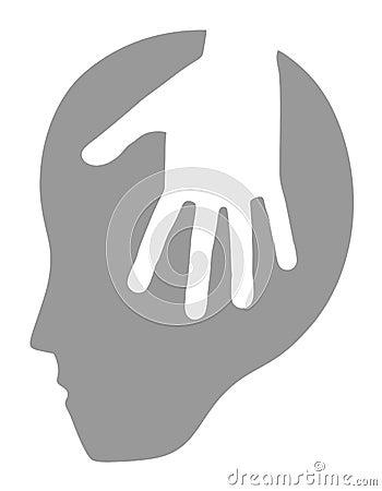Het pictogram van de psychologie