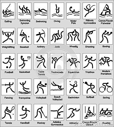 Het pictogram van de sport