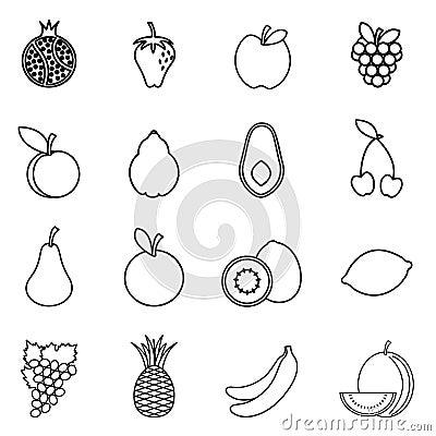 Het pictogram van het fruit