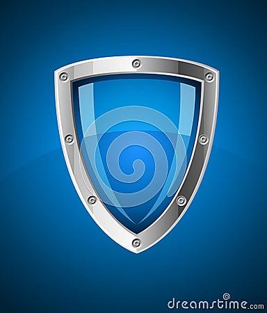Het pictogram van het het schildsymbool van de veiligheid