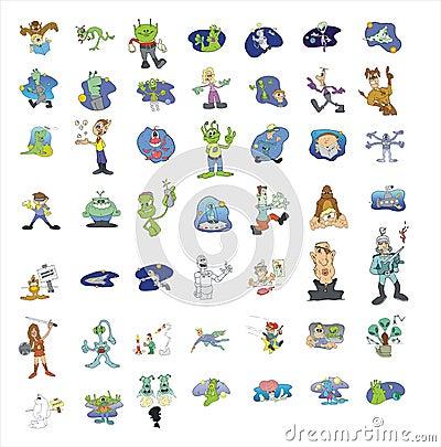 Het pictograminzameling van het beeldverhaal #06