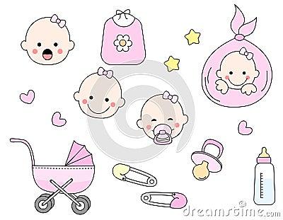 Het pictogramreeks van de baby