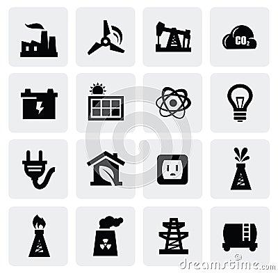 Het pictogramreeks van de energie