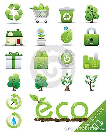 Het pictogramreeks van Eco