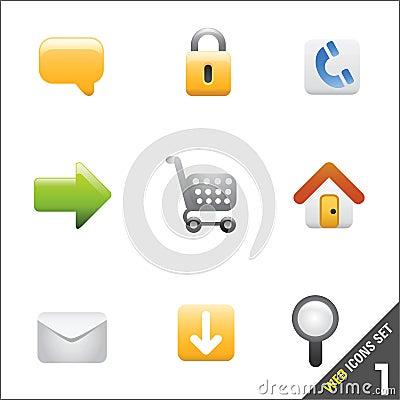 Het pictogramvector 1 van het Web