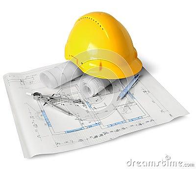 Het planhulpmiddelen van de bouw
