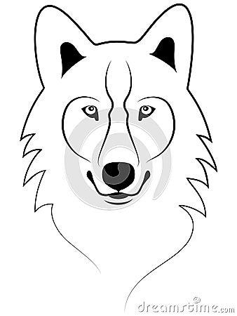 Het Portret Van De Wolf Royalty Vrije Stock Afbeeldingen