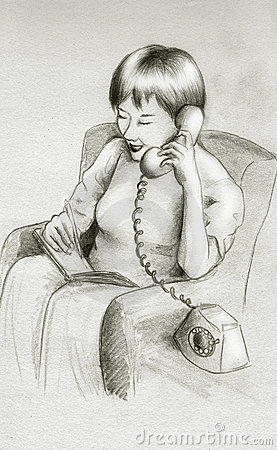 Het praatje van de telefoon