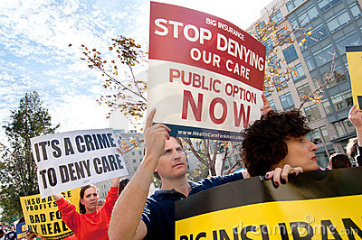Het Protest van de gezondheidszorg Redactionele Stock Foto