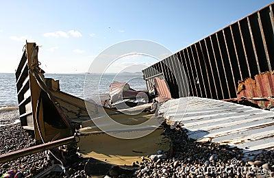 Het Puin van de schipbreuk Redactionele Stock Foto