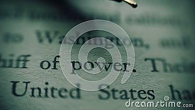 Het rapport van de geheime dienst van het geheime document concentreert zich op de tekst van de verenigde staten stock footage