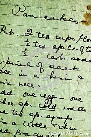 Het recept van de pannekoek