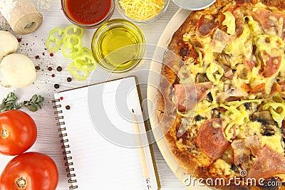 Het recept van de pizza