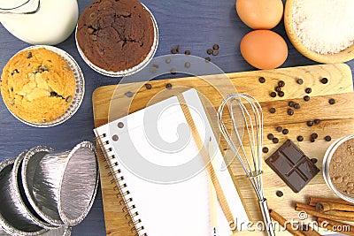 Het recept van muffins