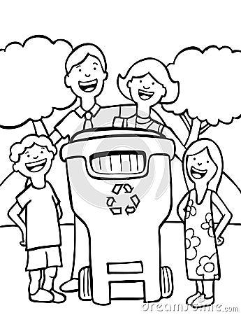 Het Recycling van de familie