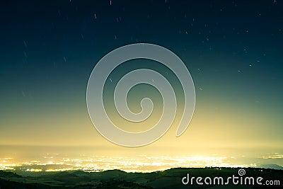 Het regenen van de ster