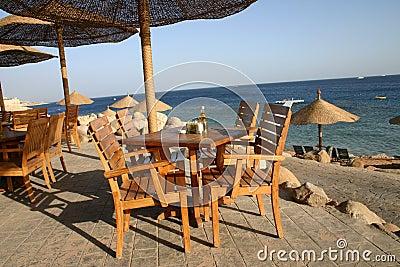 Het Restaurant van het strand