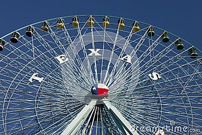 Het Reuzenrad van Texas Redactionele Foto