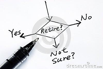 Het risico om de pensionering te nemen